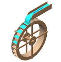 sustainable energy waterwheel